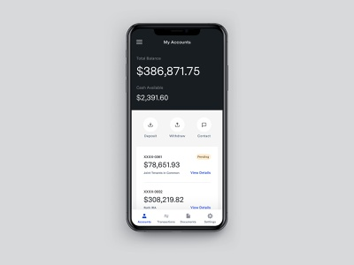Investment Accounts for Mobile simple money app app balance money investment finance mobile ui ui