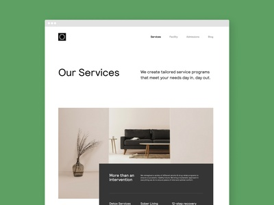 CR Services simple minimal clean landing page