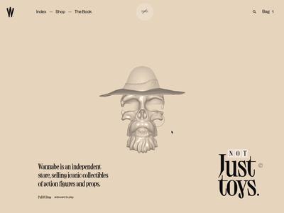 Wannabe – Skull motion interactive interaction animation action figure threejs webgl cinema4d model 3d skull