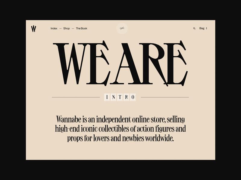 Wannabe – The Book branding animation web bold inspiration design minimal