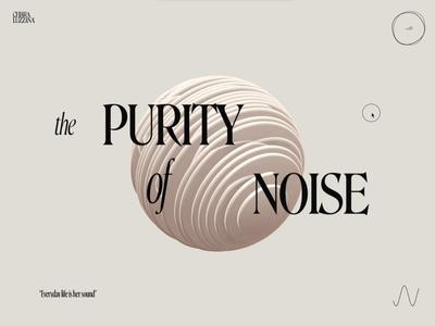 Chiara Luzzana – 01 c4d sphere web glsl interactive 3d music shaders webgl animation design portfolio