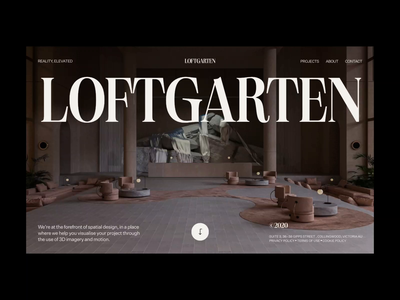 Loftgarten – 001 inspiration trend minimal editorial architecture web webgl animation bold design