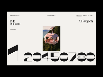 Loftgarten – 002 interactive trend inspire webgl brutalism ux animation bold minimal design