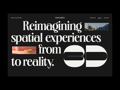 Loftgarten – 003 trend inspiration ui branding inspire web animation bold minimal design