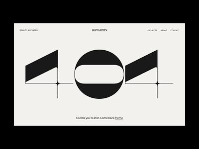 Loftgarten – 004 vector interactive ui inspire brutalism animation web bold minimal design