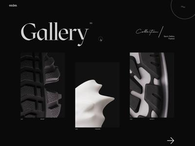 Cobo –Gallery web minimal brutalism trend bold inspire design ux ui effects fluid animation threejs webgl gallery
