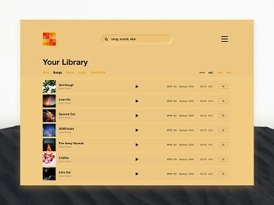 Beatbox Music Management App album art user interface ui management system management tool management app music player music app osx desktop organization management music