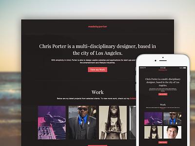 MadeByPorter.com portfolio webdesign red brown