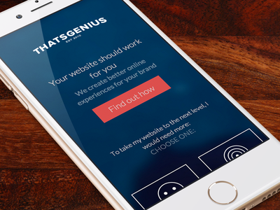 That Genius Email Capture Launch webdesign mobile