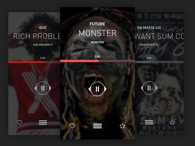 LiveMixtapes Player UI Exploration