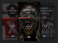 LiveMixtapes Player UI Exploration