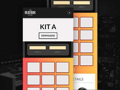 The Beatbox Club mobile ui design music production