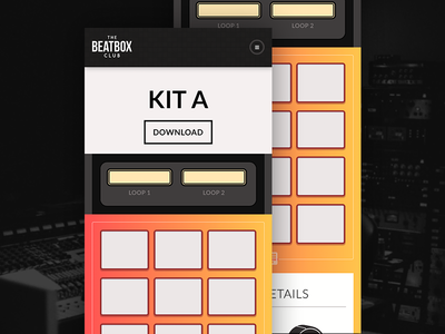 The Beatbox Club mobile ui design music production