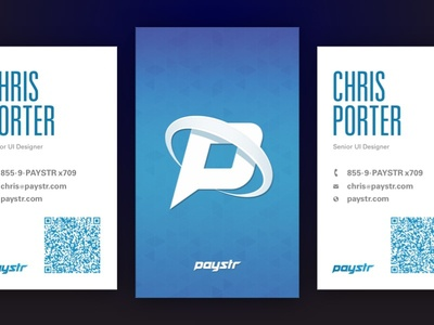 Paystr Cards qr code blue cards business cards pattern cards
