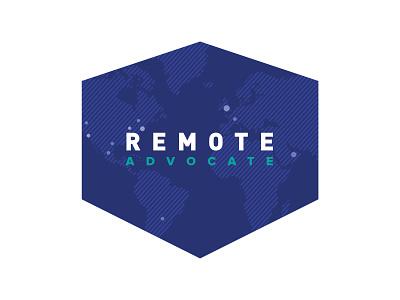 Remote Advocate Logo v2 branding globe continents world cities advocate remote shield logo