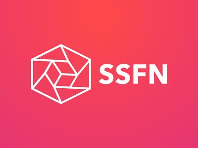 SSFN Logo collective creatives tesseract identity branding identity branding logo