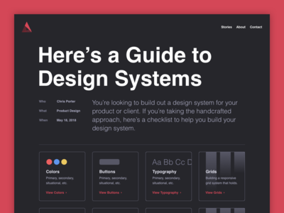 A Guide to Design System portfolio helvetica website blog system design