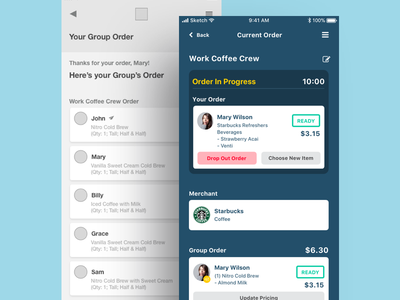 I Fly You Buy Mobile UI coffee iphone user interface mobile