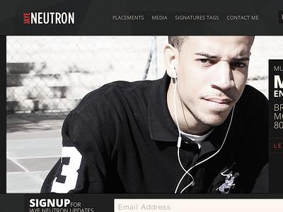 Jaye Neutron Website hiphop producer website retina dark open sans