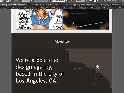 Los Angeles los angeles california about us illustrator webdesign mobile design