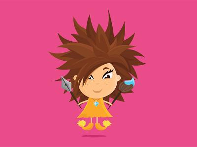 Mimi - personal avatar flat illustration character