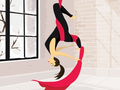 Aerial Dancer @minimal @flat @illustration