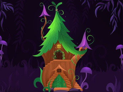 Fantasy fairy world games art concept illustration