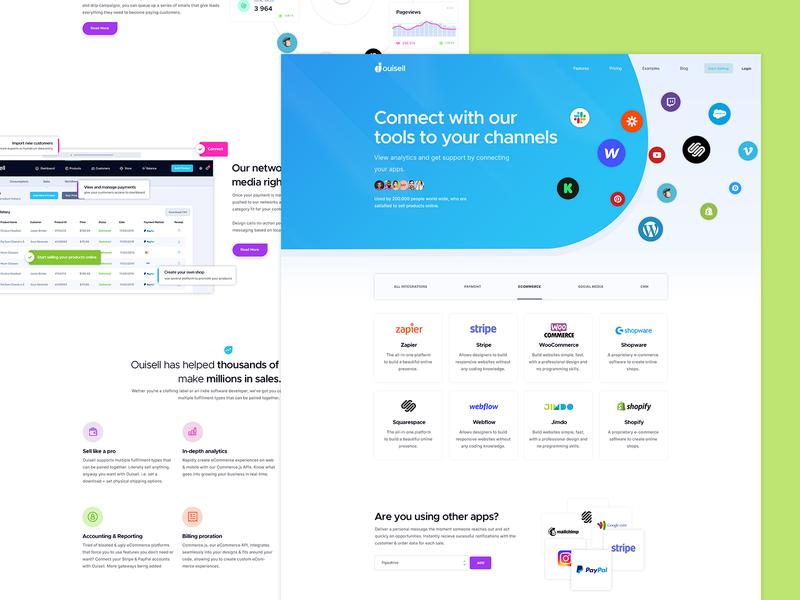 Online Platform layout branding wordpress website creative template landing page selling shopify online selling