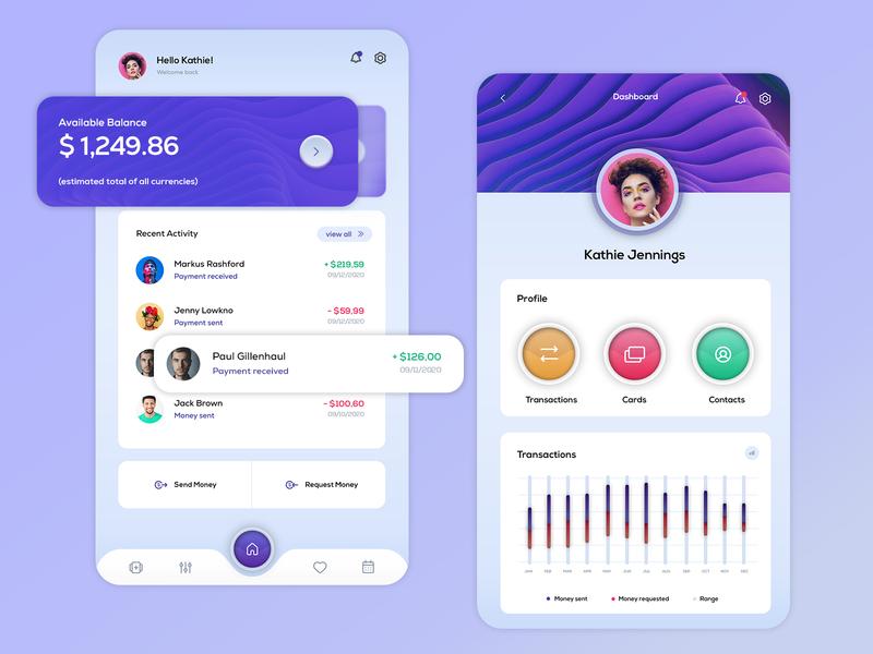 Payment App Design webdesign interface dashboard website design ux design ui design freelance app application design payment app