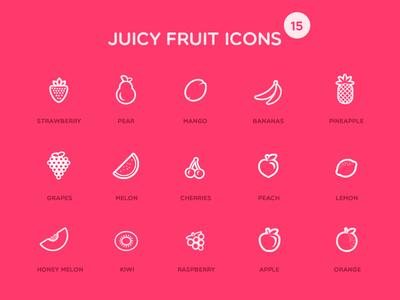 Juicy Fruit Icons