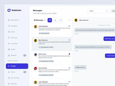 Messanger UI dailyui dashboard ui user interface webapp ui design ui messanger dashboard