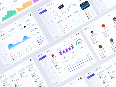 Dashcom - Dashboard UI Kit dashboard ui design photoshop figma sketch user interface design mobile application webapp user interface dashboard ui kit