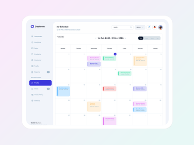 Schedule Management schedule app interface ui kit dashboard ui design inbox profile webapp manager task project calendar schedule