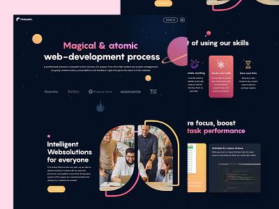 Portfolio Website Design websolutions atomic portfolio design space creative agency development portfolio