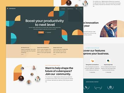 Landing Page WIP product design innovative geometric style isometric website design landing page template platform webapp app performance productivity