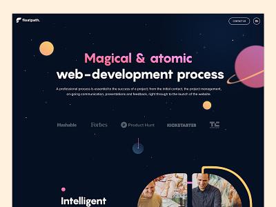 Magical Design startup landing page design webdevelopment agency ui scroll animation webdesign design website landing page