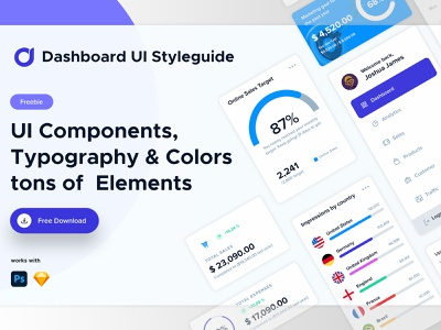 Styleguide UI styleguide colourstyles webelements ui elements components typography elements website ui dashboard user interface ui design styleguide ui