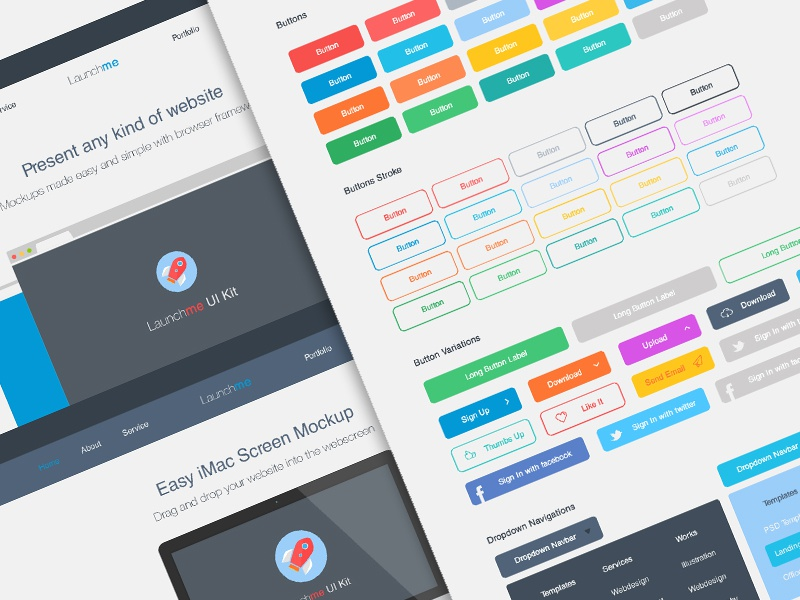 Launchme ui kit