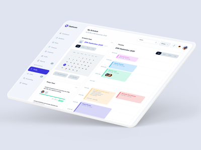 Schedule & Tasks Layout timeline scheduler modern wallet sales product design dashcom design webapp dashboard ui kit project task schedule dashboard template