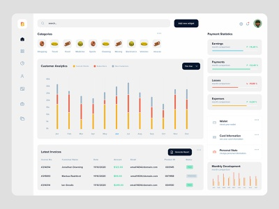 New UI Dash ui elements charts infographis graphics template design dashboard template webapp ui design new ui dashboard