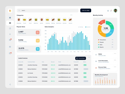 Dashboard App application ui infographics navigation ui design dashboard webapp application