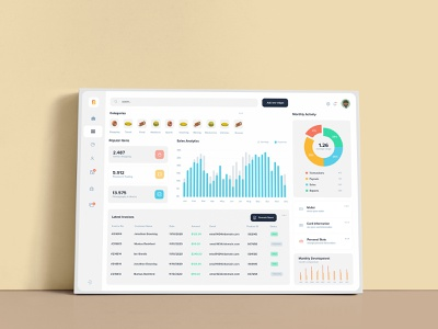 Canvas Style Dashboard canva template ui elements statistics infographics graphics ui dashboard ui kit dashboard style mockup canvas