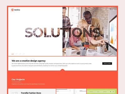 Agency Landing Page theme website webtemplate page templates landing illustration branding webdesigner resource ui resource ui cards blocks template site builder landing page