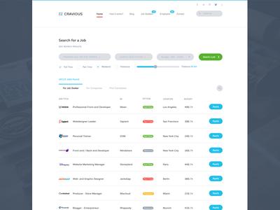 Job Portal Website WIP webdesign website template layout job portal search jobs job board find designers theme