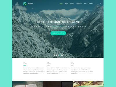 Highwire Responsive Template agency blog bootstrap business corporate flat parallax portfolio responsive