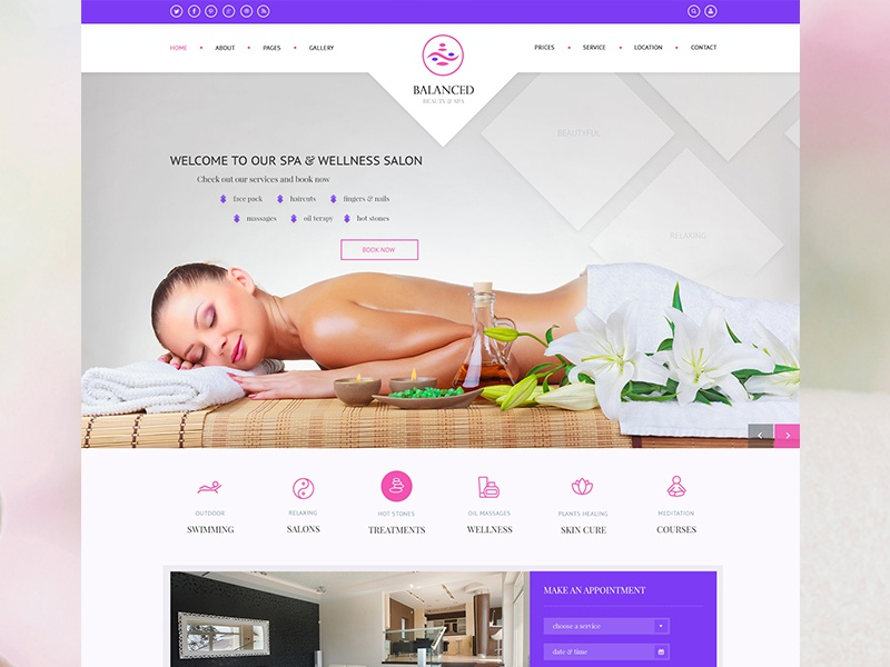 spa wellness template by kl webmedia dribbble dribbble