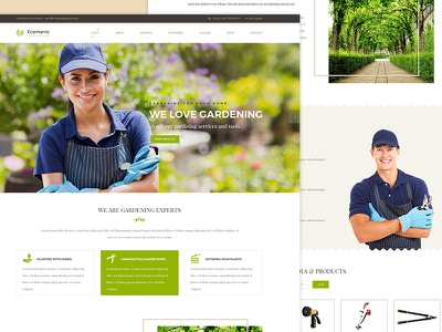 Ecomanic landscaping website design landscape architects irrigation industry groundskeeper grass gardener garden florist essential grid building company agriculture