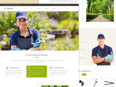 Ecomanic landscaping website design