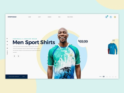 Sportswear Design ecommerce retail men ux ui football clothes shirts sportwear sports