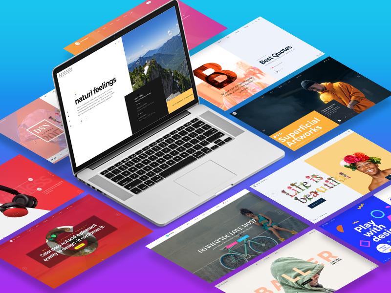 Visual Headers Demo agency themeforest designinspiration adobe photoshop features create design website portfolio landing page theme wordpress